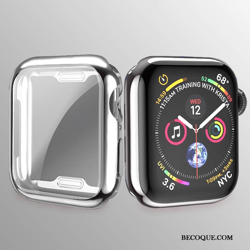 Kuori Apple Watch Series 3 Laukut Kalvo Pinnoitus, Kotelo Apple Watch Series 3 Pehmeä Neste Ultra Hopea