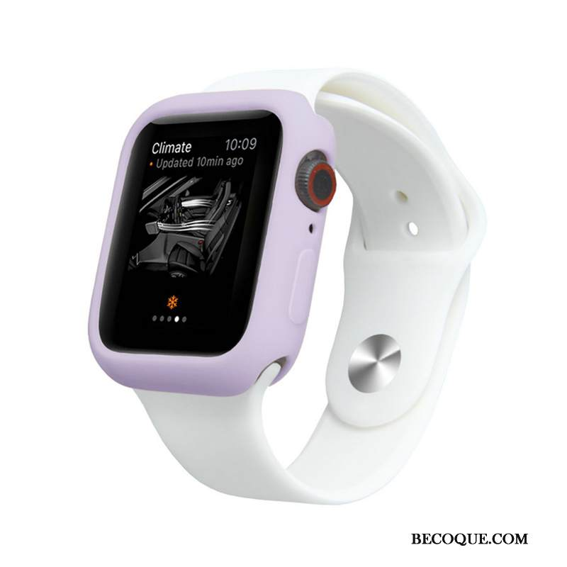 Kuori Apple Watch Series 4 Laukut Karamelli Violetti, Kotelo Apple Watch Series 4 Silikoni