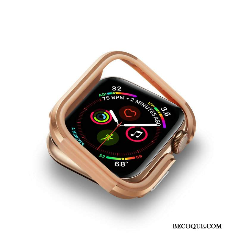 Kuori Apple Watch Series 4 Metalli Kehys Kulta, Kotelo Apple Watch Series 4 Suojaus Murtumaton